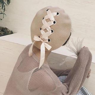 リズリサ(LIZ LISA)のウール混 リボンベレー帽(ハンチング/ベレー帽)
