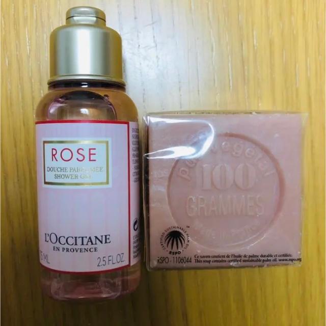 L'OCCITANE(ロクシタン)の《新品、未使用》ロクシタン RSシャワージェル&ボンメールソープWR コスメ/美容のボディケア(ボディソープ/石鹸)の商品写真