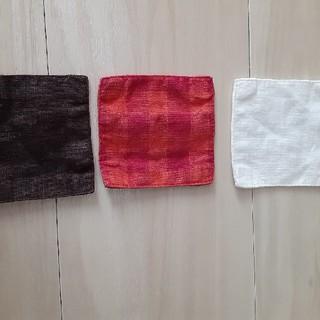 フォグリネンワーク(fog linen work)の【9月だけの出品】foglinenworks コースター3枚(テーブル用品)