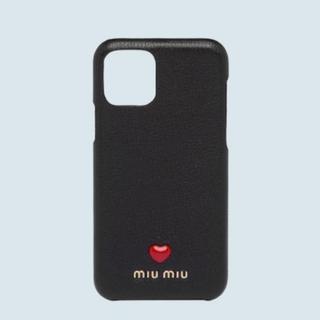 ミュウミュウ(miumiu)の【新品未使用】iPhone11proケース カバー ブラック(iPhoneケース)