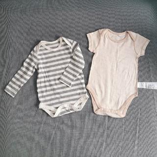 ムジルシリョウヒン(MUJI (無印良品))の無印良品 ベビー ボディスーツ 2枚(ロンパース)