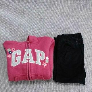 ベビーギャップ(babyGAP)の【再値下げ】 ベビーギャップ 90 女の子 パーカー  スキニーパンツ(その他)