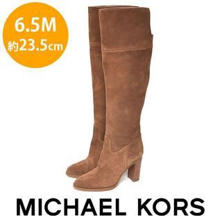 マイケルコース(Michael Kors)のマイケルコース バックロゴ スウェード ロングブーツ 6.5M(約23.5cm)(ブーツ)
