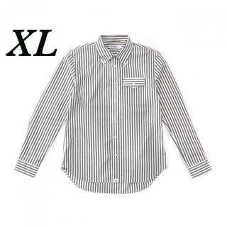 SEQUEL BUTTON DOWN SHIRT BLACK STRIPE XL(シャツ)