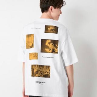 ジーユー(GU)のGU Tシャツ 鬼滅の刃 XL 我妻善逸(白色)(キャラクターグッズ)