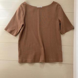 オペークドットクリップ(OPAQUE.CLIP)の美品 秋色 ブラウン(Tシャツ(半袖/袖なし))