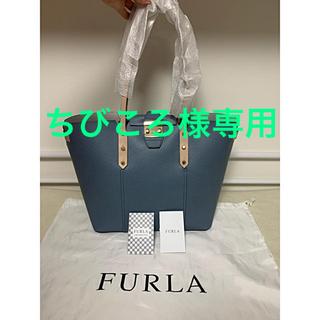 フルラ(Furla)の再値下げ!武井咲さん使用FURLA(フルラ)Sブルーのサフィアーノトートバッグ(ハンドバッグ)