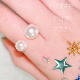 ニコアンド(niko and...)の◇シンプルなダブルパールリング◇ 使いやすさ◎ゴールド×スキニーリング 華奢(リング(指輪))