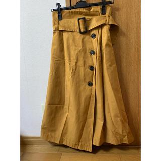 ローズバッド(ROSE BUD)のコットントレンチスカート(ひざ丈スカート)