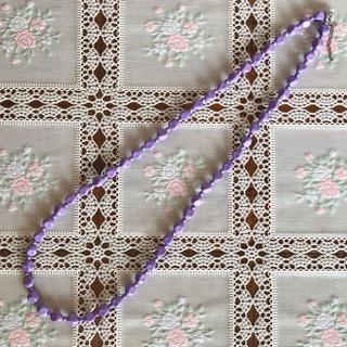 フェリシモ(FELISSIMO)のフェリシモ ネックレス 薄紫(ネックレス)