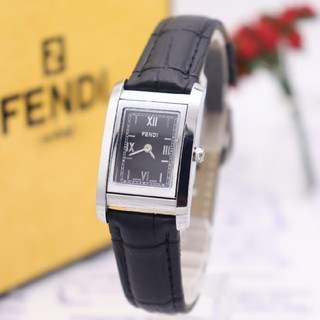 フェンディ(FENDI)の正規品【動作品】FENDI 7600L/ループ ズッカ柄 ブラック 人気モデル(腕時計)