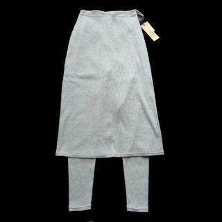アルピーエス(rps)の新品 rps レギンス付き テレコ ロング スカート ミモレ丈 10分丈 (ひざ丈スカート)
