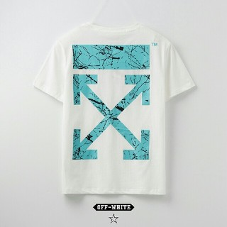 オフホワイト(OFF-WHITE)のOW14●激安!OFF-WHITE Tシャツ  男女兼用  白(Tシャツ(半袖/袖なし))