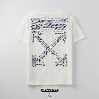 オフホワイト(OFF-WHITE)のOW15●激安!OFF-WHITE Tシャツ  男女兼用  白(Tシャツ(半袖/袖なし))