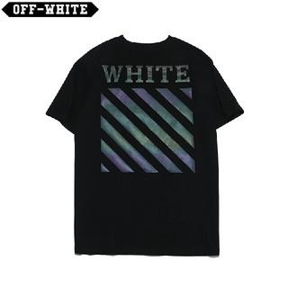 オフホワイト(OFF-WHITE)のOW22●激安!OFF-WHITE Tシャツ  男女兼用  黒(Tシャツ(半袖/袖なし))