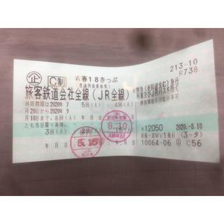 ジェイアール(JR)の青春18切符 3回分(鉄道乗車券)