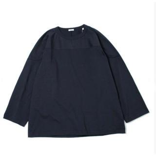 コモリ(COMOLI)の【新品 未使用 ネイビー】COMOLI フットボールTシャツ size 3(Tシャツ/カットソー(七分/長袖))