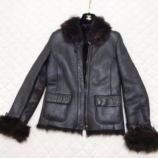 オールドイングランド(OLD ENGLAND)のOLD ENGLAND 羊革 レザージャケット 毛皮コート(毛皮/ファーコート)