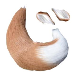 コスプレ ハロウィン 狐 尻尾 耳 2点セット(小道具)