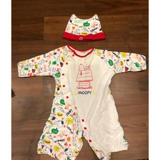 ピーナッツ(PEANUTS)のスヌーピー ロンパース  帽子 ベビー 赤ちゃん カバーオール (ロンパース)