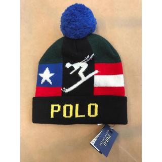 ポロラルフローレン(POLO RALPH LAUREN)の新品 POLO ポロ ラルフローレン ダウンヒル  ニット帽 帽子 スノボー(キャップ)