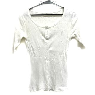 ツモリチサト(TSUMORI CHISATO)のツモリチサト 半袖カットソー サイズM 白(カットソー(半袖/袖なし))