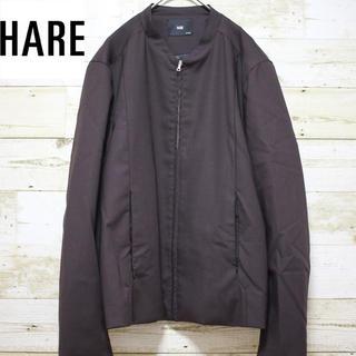 ハレ(HARE)のhare ハレ ノーカラージャケット ジップアップブルゾン アースカラー(ノーカラージャケット)