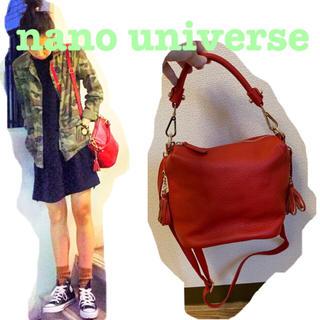 ナノユニバース(nano・universe)の値下げ!Lusso Vita レザーミニショルダー nano・universe(ショルダーバッグ)