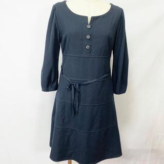 ナチュラルビューティーベーシック(NATURAL BEAUTY BASIC)の1年中 ワンピース スーツ フォーマル ひざ丈 M ネイビー スカート(スーツ)