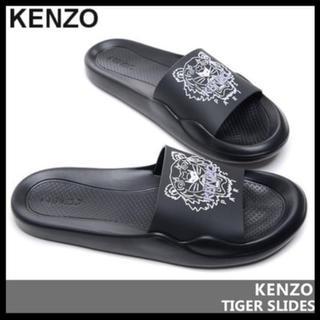 ケンゾー(KENZO)のKENZO ロゴ サンダル ブラック(サンダル)