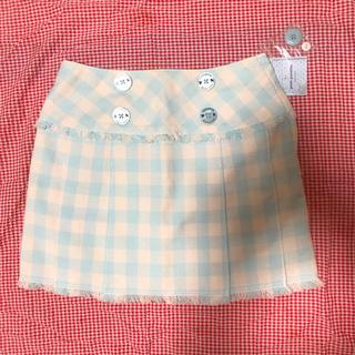 ポンポネット(pom ponette)の pomponette チェックミニスカート(スカート)