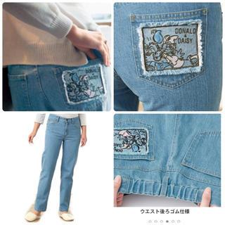 ベルメゾン(ベルメゾン)の [ベルメゾン] ディズニー刺繍ポケット付きデニムパンツドナルド&デイジー(デニム/ジーンズ)