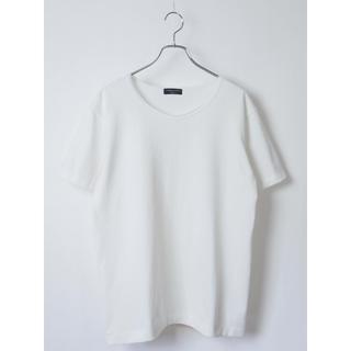 コムデギャルソンオムプリュス(COMME des GARCONS HOMME PLUS)のコムデギャルソンオムプリュス ホワイト ポリエステル半袖Tシャツ(Tシャツ/カットソー(半袖/袖なし))