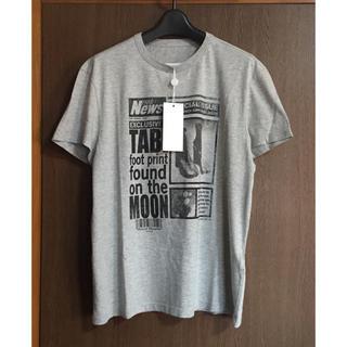 マルタンマルジェラ(Maison Martin Margiela)の20SS新品46 メゾン マルジェラ メンズ 足袋ブーツ Tシャツ グレー タビ(Tシャツ/カットソー(半袖/袖なし))