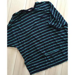 プラステ(PLST)のプラステボーダーカットソー2(カットソー(半袖/袖なし))