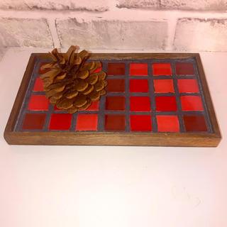 タイル オリジナル 鍋敷き 美濃焼 インテリア ハンドメイド(キッチン小物)