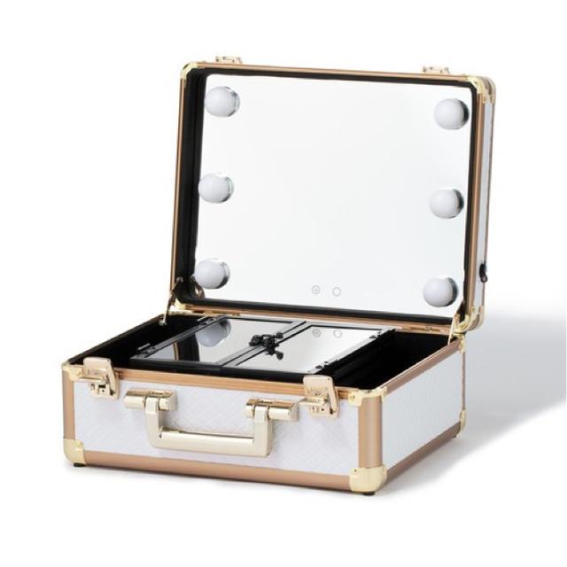 Francfranc(フランフラン)の★りん様専用★Francfranc ヴァリーズ ハリウッドボックス S ホワイト コスメ/美容のメイク道具/ケアグッズ(メイクボックス)の商品写真