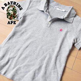 アベイシングエイプ(A BATHING APE)の超美品 TALLサイズ アベイシングエイプ レディース ポロシャツ グレー(ポロシャツ)