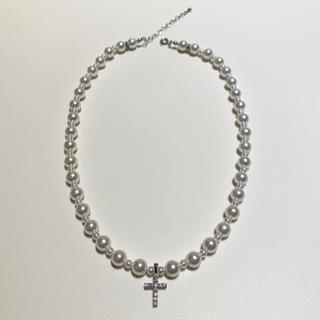 キャピタル(KAPITAL)のpearl beads necklace パールビーズネックレス(ネックレス)