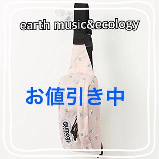 アースミュージックアンドエコロジー(earth music & ecology)のoutdoorウエストポーチ パンジー刺繍(ボディバッグ/ウエストポーチ)