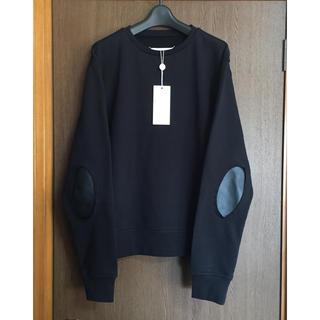 マルタンマルジェラ(Maison Martin Margiela)の48新品 メゾン マルジェラ エルボーパッチ スウェット シャツ オールブラック(スウェット)
