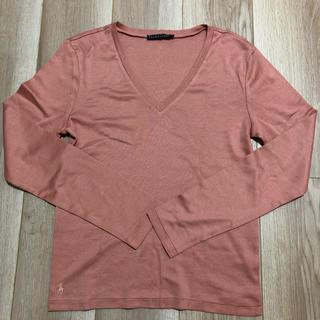 ラルフローレン(Ralph Lauren)のお値下げしました!美品☆ラルフローレン Vネック長袖カットソー  Lサイズ(Tシャツ(長袖/七分))