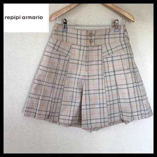 レピピアルマリオ(repipi armario)のレピピアルマリオ 未使用 チェック キュロットプリーツスカート M(キュロット)