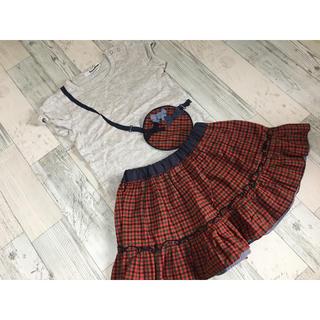 ファミリア(familiar)のファミリア Tシャツ&リバーシブルスカート 90cm(Tシャツ/カットソー)