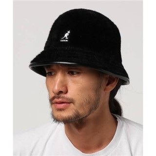 KANGOL - KANGOL Shavora Casual バケットハット 帽子 ブラック 黒