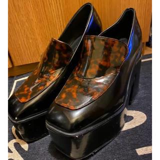 アンビー(ENVYM)のENVYM スクエアトゥー ローファー 靴(ハイヒール/パンプス)