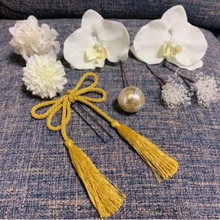 胡蝶蘭 髪飾り(ヘッドドレス/ドレス)
