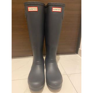 ハンター(HUNTER)のハンターレインブーツ HUNTER ネイビー 24cm(レインブーツ/長靴)