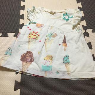 ニットプランナー(KP)のKP/トロワラパン♡アイスクリーム柄チュニック/70〜80(Tシャツ)