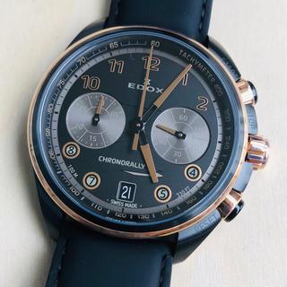 エドックス(EDOX)の◆激レア新品◆エドックス EDOX クロノラリー メンズ腕時計 定価7万円(腕時計(アナログ))